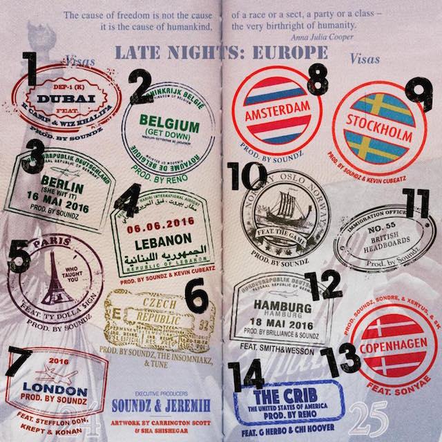 "Jeremih ""Late Nights: Europe"" mixtape cover art"