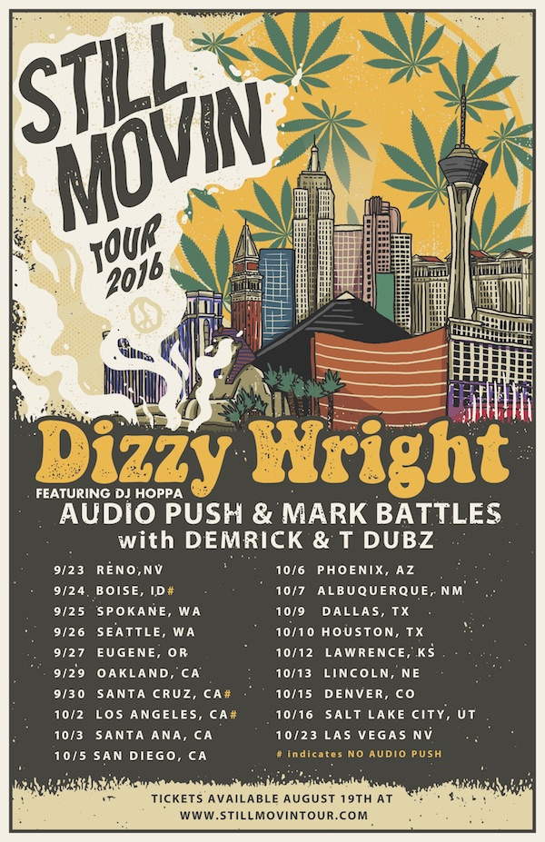 Dizzy Wright Still Movin Tour