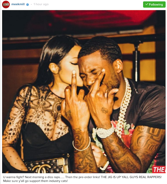 Meek Mill responds to The Game diss