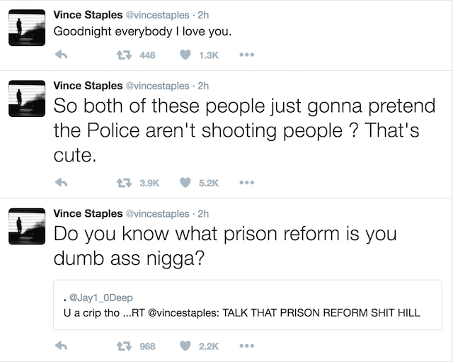 Vince Staples debate 2