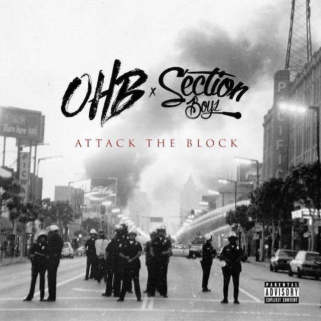Chris Brown OHB Section Boyz Attack the Block mixtape cover art