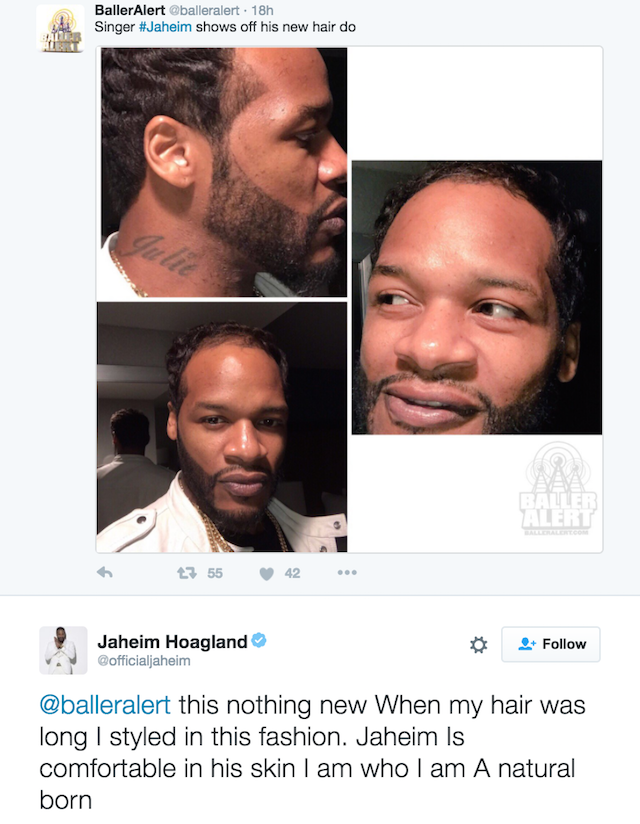 Jaheim hairdo baller alert