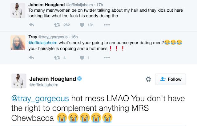 Jaheim hairdo trolls 1
