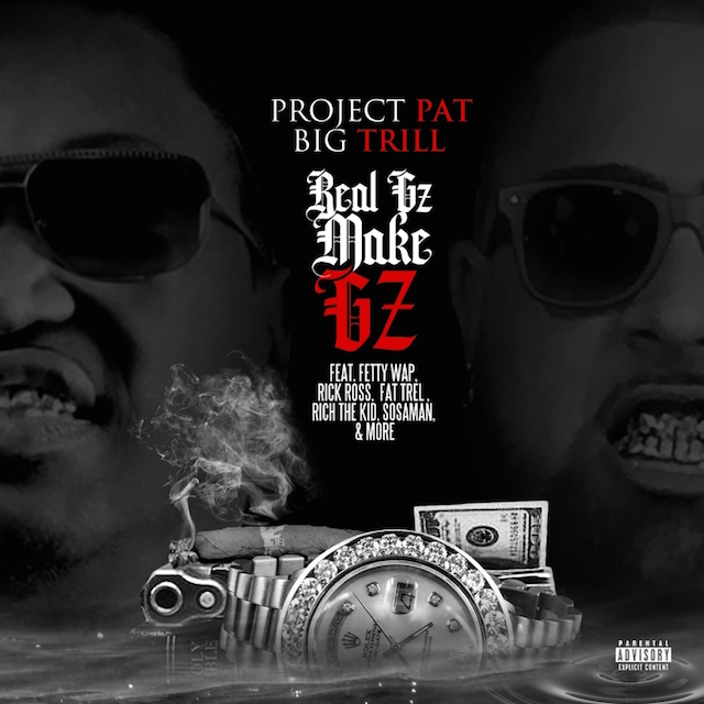 "Project Pat and Big Trill ""Real Gz Make Gz"" mixtape cover art"