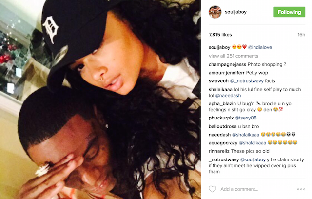 Soulja boy dating india westbrooks instagram drama