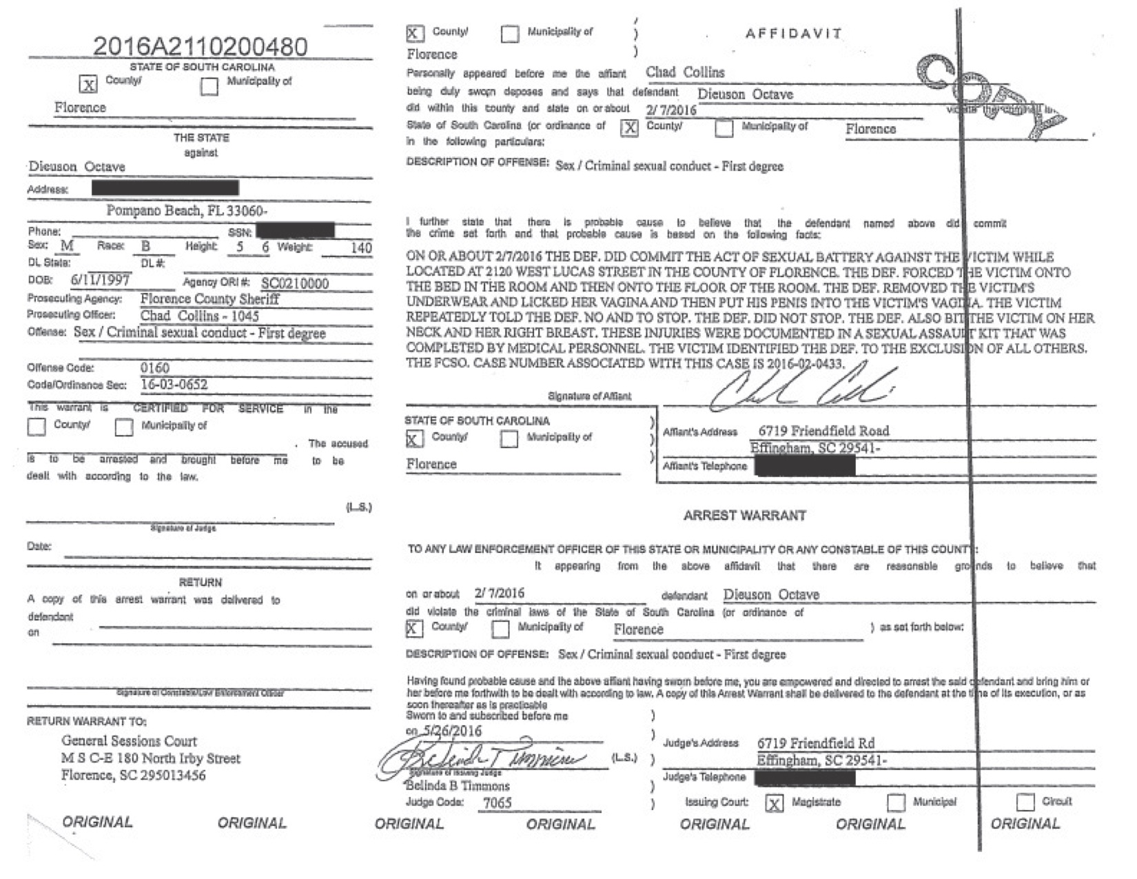 Kodak Black Sexual Battery arrest warrant