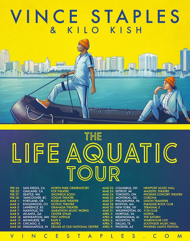 Vince Staples The Life Aquatic Tour