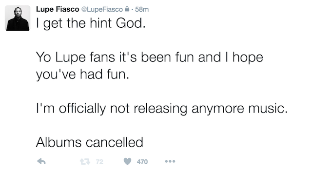 Lupe Fiasco retirement 2
