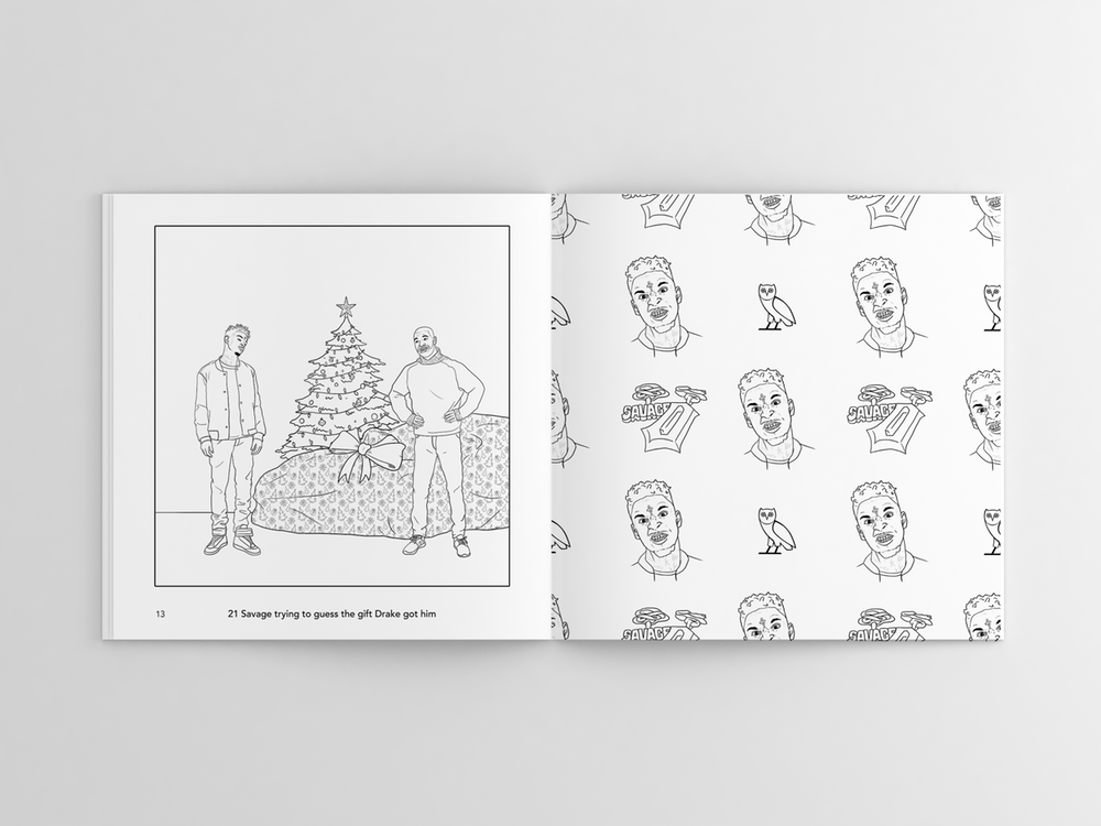 Hip Hop Holiday Coloring Book Features Drake 21 Savage Chance The