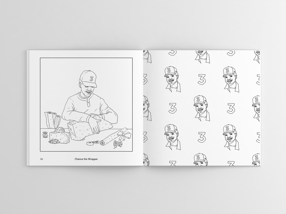 sample4 - Holiday Coloring Book