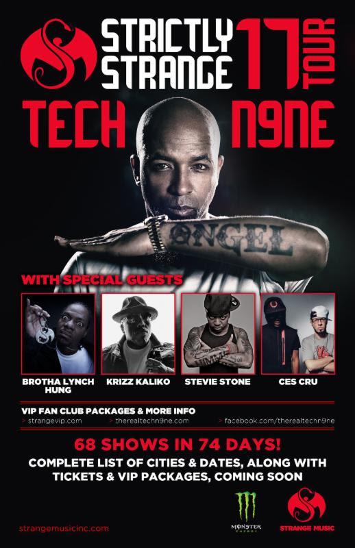 Tech N9ne Strictly Strange Tour Flier