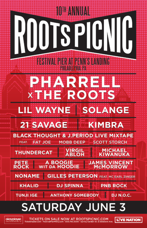 The Roots Announce Eclectic 10th Annual Roots Picnic Lineup