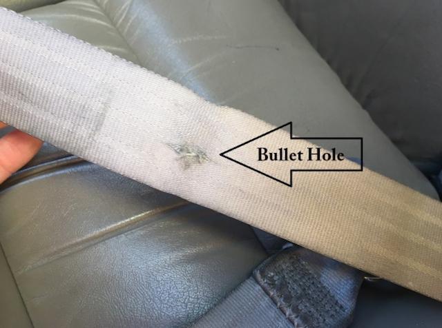 The Notorious B.I.G suburban bullet hole