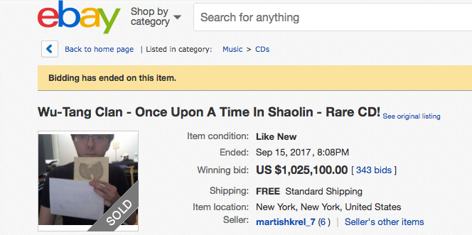 Martin Shkreli Nets 1m For Wu Tang Clan S Quot Once Upon A