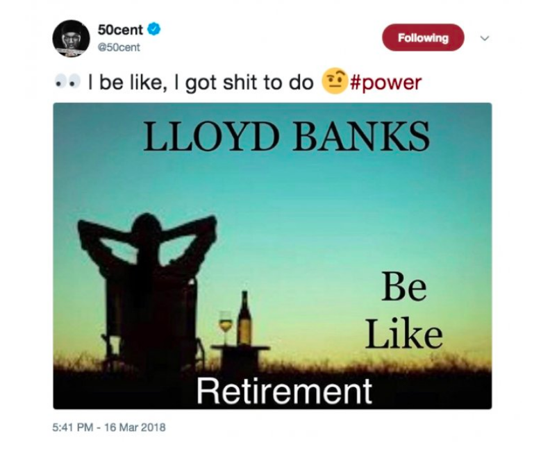 """50 Cent Reacts To Lloyd Banks' """"Retirement"""""""