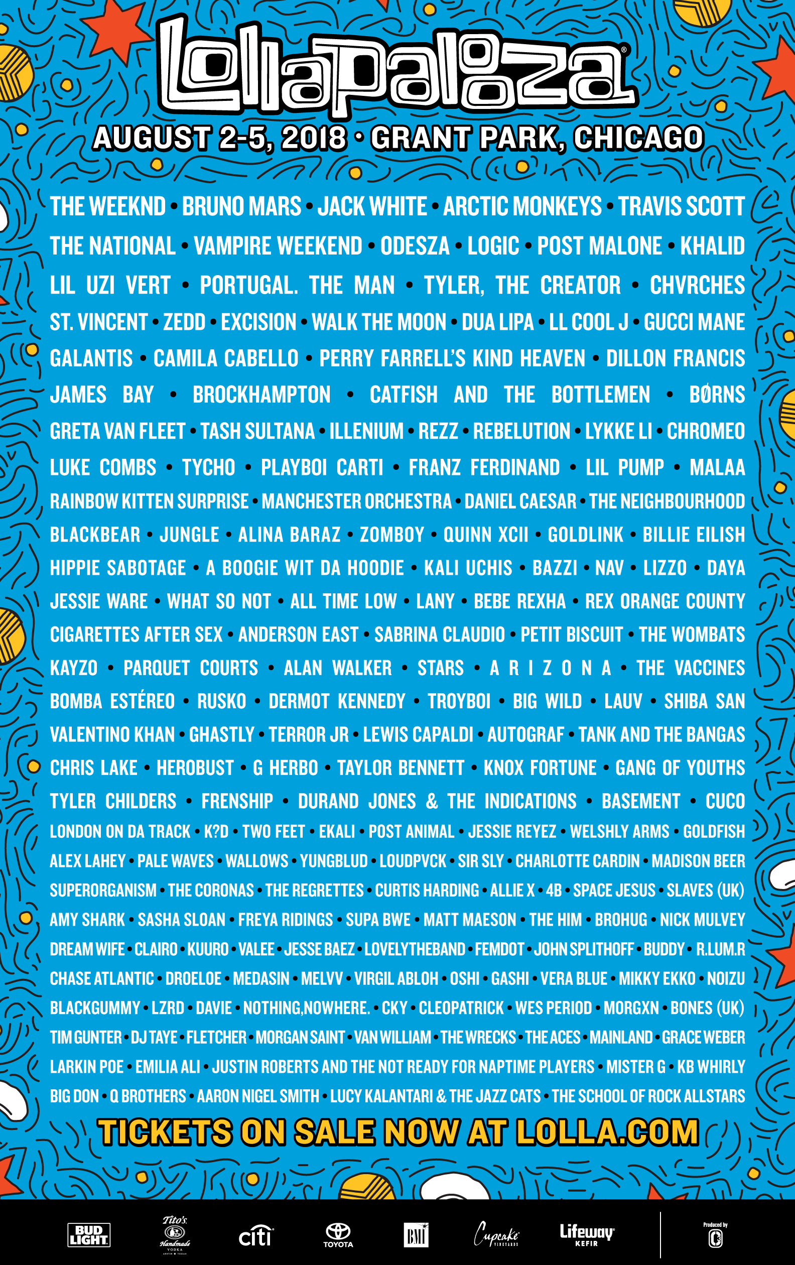 Travis Scott, Logic, LL Cool J & More Announced For Lollapalooza 2018