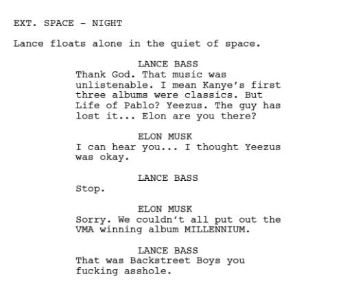 Writer Pokes Fun At Kanye West In Sci-Fi Screenplay