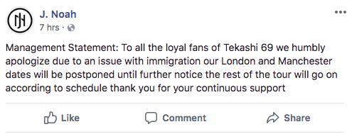 Screen Shot 2018 06 21 at 1.55.19 PM - 6ix9ine obligado a posponer conciertos tras su entrada denegada a UK