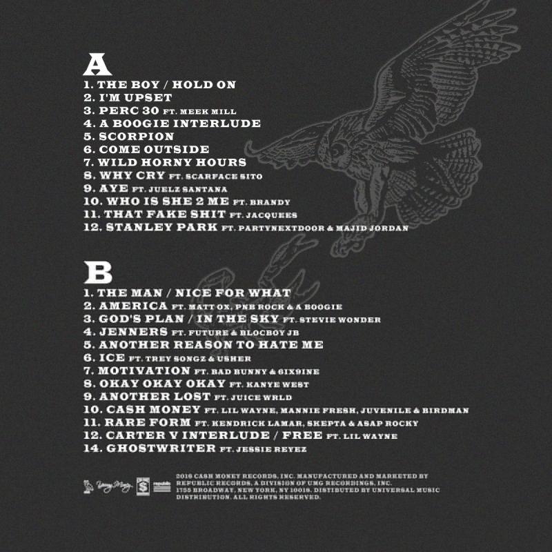 "Scorpion Drake: Drake ""Scorpion"" Album Stream, Cover Art & Tracklist"
